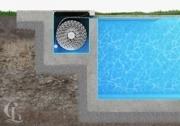 Бассейн Franmer Ксабия со встроенным сматывающим устройством с ролетным покрытием