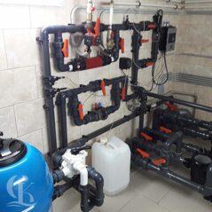 Монтаж комплекта фильтрационного оборудования для бассейна